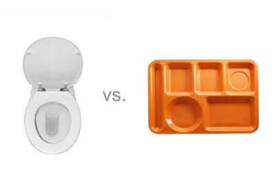Toilet Seat versus dinner tray